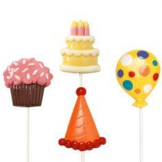 Wilton Lollipop mold Birthday/Party Large - Candy & Chocolade Molds - Molds & Uitstekers - producten | Deleukstetaartenshop.nl