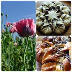 Wow, was für ein abgefahrenes Gebäck! Pucks Mohnblume aus Hefeteig begeistert nicht nur durch Kreativität, sondern auch eine unglaubliche Ausführung - beide Daumen hoch! Yeast Bread, Dessert, Sausage, Baking, Ethnic Recipes, Poppy Flowers, Beide, Wednesday, Creative