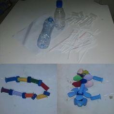 Colares de Carnaval com material que iria para o lixo!!
