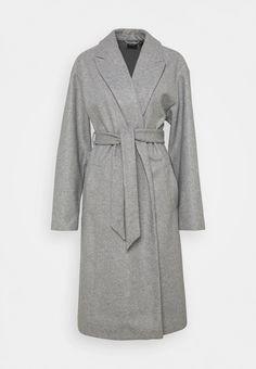 Vero Moda Tall VMFORTUNE LONG JACKET - Abrigo - light grey melange/gris claro - Zalando.es Long Jackets, Fashion, Wraps, Gray, Moda, Fashion Styles, Fashion Illustrations