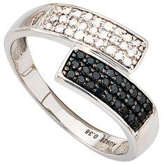 Damen Ring 925 Sterling Silber 54 Diamanten Brillanten schwarz 0,38ct. A51558 60 http://www.ebay.de/itm/Damen-Ring-925-Sterling-Silber-54-Diamanten-Brillanten-schwarz-0-38ct-A51558-60-/151833298080?ssPageName=STRK:MESE:IT