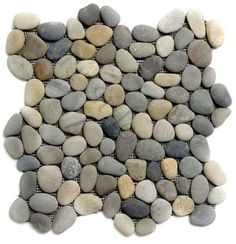 Installation & usage picture of Dark Ocean Pebble Tile Bathroom Flooring Pebble Tile Shower, Pebble Floor, Shower Floor Tile, Pebble Stone, Stone Tiles, Pebble Tiles, Stone Mosaic, River Rock Tile, River Rock Shower