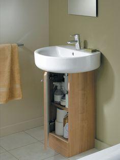 Super Ideas Bath Room Diy Storage Under Sink Diy Storage Under Sink, Pedestal Sink Storage, Bathroom Sink Storage, Kitchen Sink Diy, Small Bathroom, Storage Ideas, Storage Baskets, Corner Storage, Bathroom Showers
