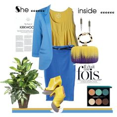 A fashion look from May 2013 featuring blue jackets, yellow vest and high-waisted skirt. Browse and shop related looks. Valentino Valentina, High Waisted Skirt, Fashion Looks, My Love, Skirts, Polyvore, Jackets, Shopping, Women