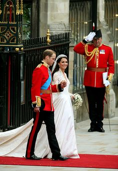 The Duke and Duchess of Cambridge leave Westminster Abbey