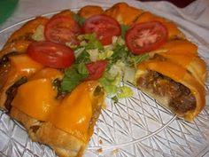 Cheeseburger Ring! Super Bowl food!