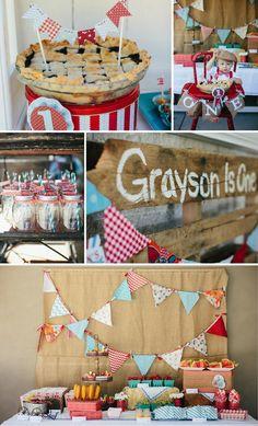 County Fair Themed 1st Birthday Party with So Many Cute Ideas via Kara's Party Ideas | KarasPartyIdeas.com #CountyFair #PartyIdeas #Supplies (1)
