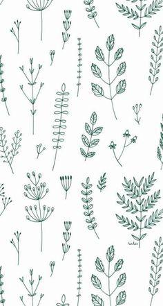 Trendy Plants Wallpaper Pattern Inspiration – Best Garden Plants And Planting Simple Wallpapers, Trendy Wallpaper, Simple Backgrounds, Boho Pattern, Simple Pattern, Pattern Ideas, Pattern Flower, Pattern Design, Print Design