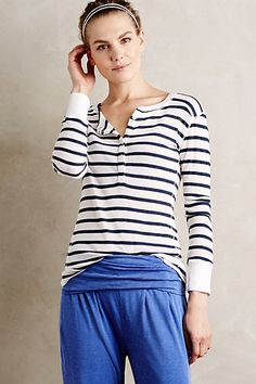 Striped Thermal Tee.  Looks so comfortable.