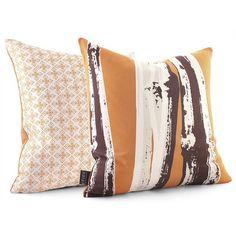 Modern Pillows From Inhabit Living. Bamboo In Sunshine Pillow