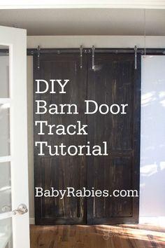 {DIY Barn Door Track Tutorail} Pretty cool...