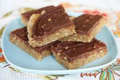 Chocolate Frosted PB Cookie Bars