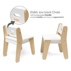 This Toddler Table and Chairs in White designed by P'kolino to be a Playful and practical table set for even the most creative toddler. It comes with two comfy stylish chairs that are perfectly sized for children. Buy the modern table and chairs for kids