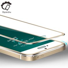 Spedu 3D Curved Edge tempered glass screen protector For iphone 5 5S 5C SE Aluminum alloy protective film For iphone5