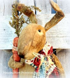 Primitive Folk Art Roly Poly Standing by MeadowForkPrims on Etsy