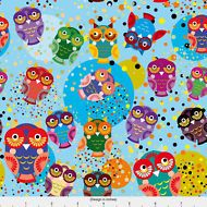 Dotted Owl Fabric Printed by Spoonflower BTY