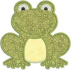SALE 65% Off Applique Frog Toad Machine Embroidery Designs 4x4 & 5x7 Instant Download Sale