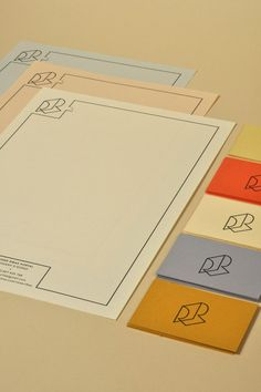 I have picked lots of simple letterheads to not create to busy of card or letterhead.