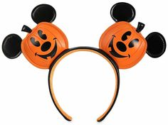 Hello Gourdgeous! NEW Disney Jack-o'-Lantern Mickey Mouse Ears Are Available Online NOW! Mickey Mouse Halloween, New Mickey Mouse, Halloween Masks, Halloween Fun, Disney Ears, Disney Fun, Disney Dining Plan, Disney Posters, Ear Headbands