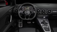 The TTS features a driver-focused setup that puts the climate controls right in the vents and the screen right in front of the driver.