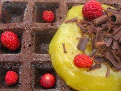 Chocolate Cake Waffles