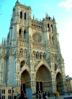 Amiens Cathedral (France). this is a beautiful Gothic Cathedral. I really like the pointed arches. this architecture looks huge.