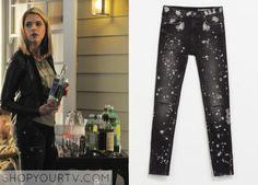 Pretty Little Liars: Season 5 Episode 7 Hanna's Paint Splattered Ripped Jeans - ShopYourTv