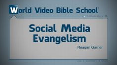 http://video.wvbs.org/video/social-media-evangelism/ Undoubtedly one of the most powerful tools in Satan's arsenal of weapons is the media. With it he attacks the home and slowly breaks down moral barriers. This five-minute program features Reagan Garner explaining some ideas and ways people can use social media to teach and evangelize their friends, family and others using WVBS material. It is an excellent short lesson to show to young and old alike.