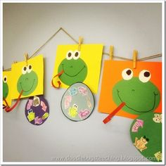 Frog Life Cycle art project/science lesson too! Kindergarten Science, Elementary Science, Science Classroom, Teaching Science, Science Education, Science Activities, Classroom Crafts, Spring Activities, Science Ideas