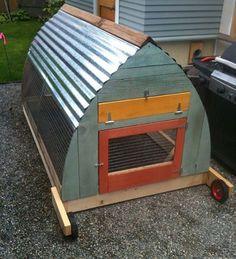 Cute homestead friendly chicken coop.