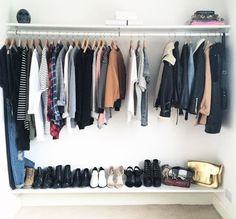beautiful closet with neutrals