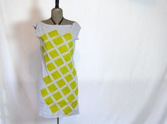 Yellow Checkers Tee Dress by JessalinBeutler on Etsy, $34.00