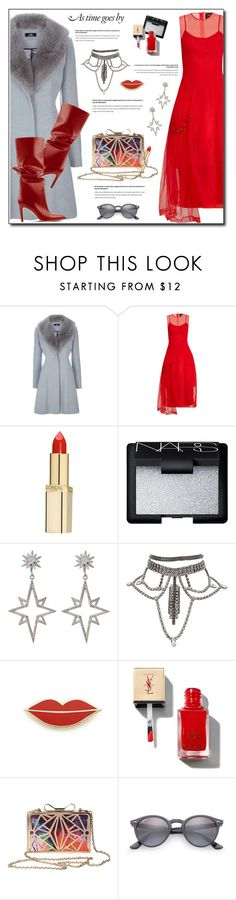 """""""Simone Rocha tulledress"""" by anne-irene ❤ liked on Polyvore featuring Simone Rocha, L'Oréal Paris, NARS Cosmetics, Apples & Figs, Georgia Perry, Ray-Ban, simonerocha and tulledress"""