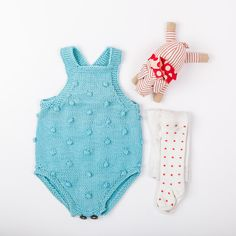 Pattern on PDF for Popcorndrakt / popcorn drakt (norwegian and english version)Sizes - 2-4 m (6-12 m) 1-2 yearsYarn - Duo from Sandnes garn or Lerke from Dale g