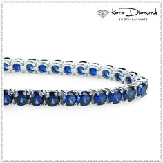 Shop for Sterling Silver CTTW Lab-grown Blue Sapphire Tennis Bracelet. Get free delivery On EVERYTHING* Overstock - Your Online Jewelry Destination! Fashion Bracelets, Jewelry Bracelets, Jewelry Sets, Fine Jewelry, Diamond Bracelets, Adjustable Bracelet, Silver Diamonds, Modern Jewelry, Blue Sapphire
