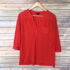 Selling this Red V-Neck Top on Poshmark! My username is: thenakedboho. #shopmycloset #poshmark #fashion #shopping #style #forsale #H&M #Tops