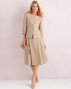 Very Lovely Skirts, Skirtsuits, and Dresses Dress Outfits, Casual Dresses, Fashion Dresses, Style Vintage, Vintage Fashion, Elegant Office Wear, Suits For Women, Clothes For Women, Work Fashion