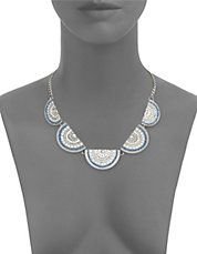 Mosiac Half Moon Collar Necklace
