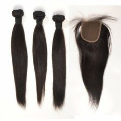 3 Bundles w/ lace closure 5A Grade hairBeautiful hair