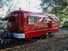 1949 Vagabond Trailer!  Love the RED:)