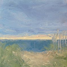 Beach Path at Sunrise,10x10, oil on canvas Lisa Ridabock  www.etsy.com/shop/lhridabock www.facebook.com/lisaridabockfineart