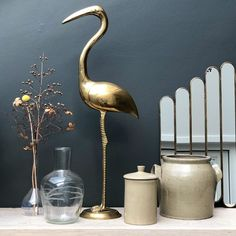 "Carlein Kieboom on Instagram: ""Stand tall and dream big #interiordesign #flamingo #collecting #myhome"" Stand Tall, Dream Big, Vase, Photo And Video, Interior Design, Flamingo, Instagram, Home Decor, Accessories"