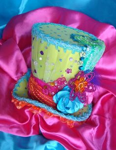 Gorgeous Mad Hatter Top Headband Fascinator in your Custom Colors