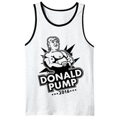 Donald Pump 2016 Donald Trump Workout Tank Top Muscle Tank Large White - Brought to you by Avarsha.com