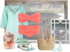 Beachwear inspired by Sanibel Island, FL