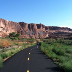MOAB CANYON PATHWAY: Moab, UT: (Old 191 Paved Trail) 9 paved miles connecting Moab to two national parks and one state park.  There are now over one hundred miles of paved non-motorized trails through absolutely amazing scenery.