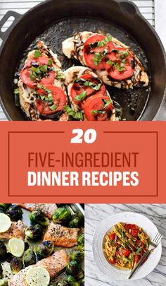 20 Smart Five-Ingredient Dinner Ideas - get organized and put these babies on your meal planner for this week!