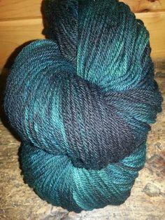 BaaHurrah Farm  Maine Wool Yarn 2 Skeins  Spruce by BaaHurrahFarms, $24.00