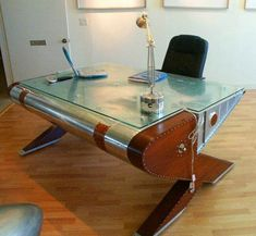 Airplane Wing For A Desk, Thats Cool #aviationfurniture