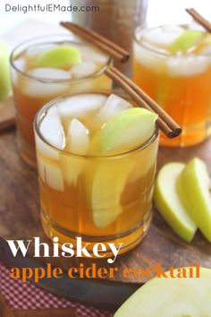 If you love hard cider, or imbibing in the occasional bourbon, this Whiskey Apple Cider Cocktail will be your new favorite drink! Apple Cider Whiskey, Apple Cider Cocktail, Hard Apple Cider, Cider Cocktails, Fall Cocktails, Fall Drinks, Whiskey Cocktails, Bourbon Drinks, Cocktail Drinks